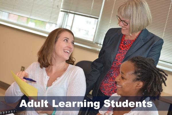 Marijke Kehrahn with adult learning students